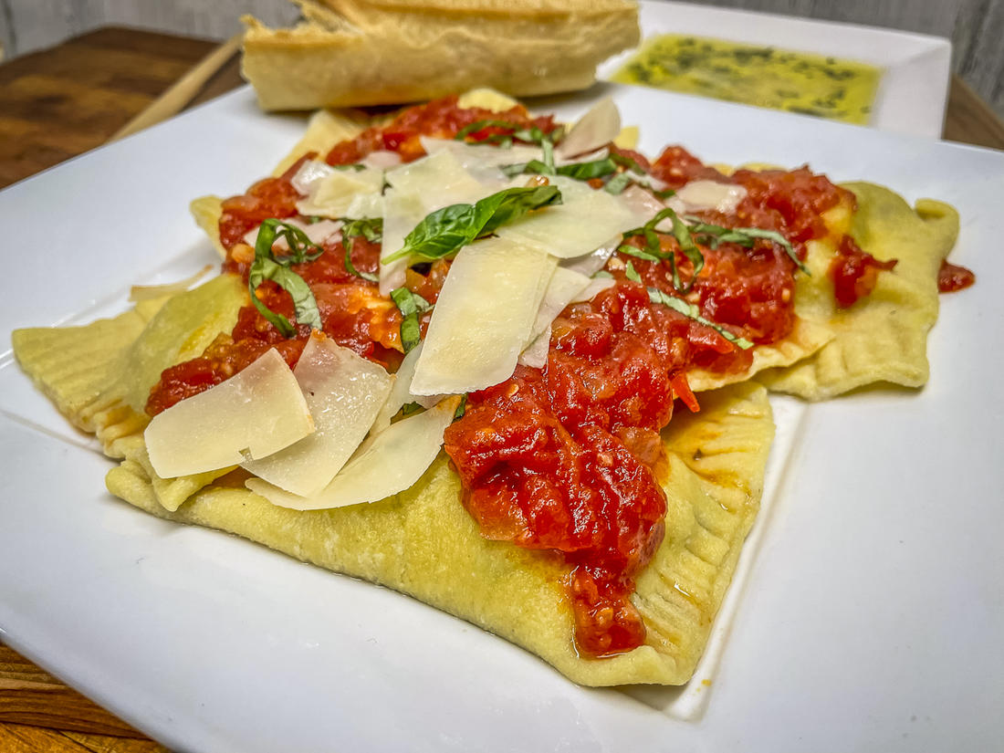 These squirrel and mushroom ravioli are just one example of what you can do with squirrel meat.
