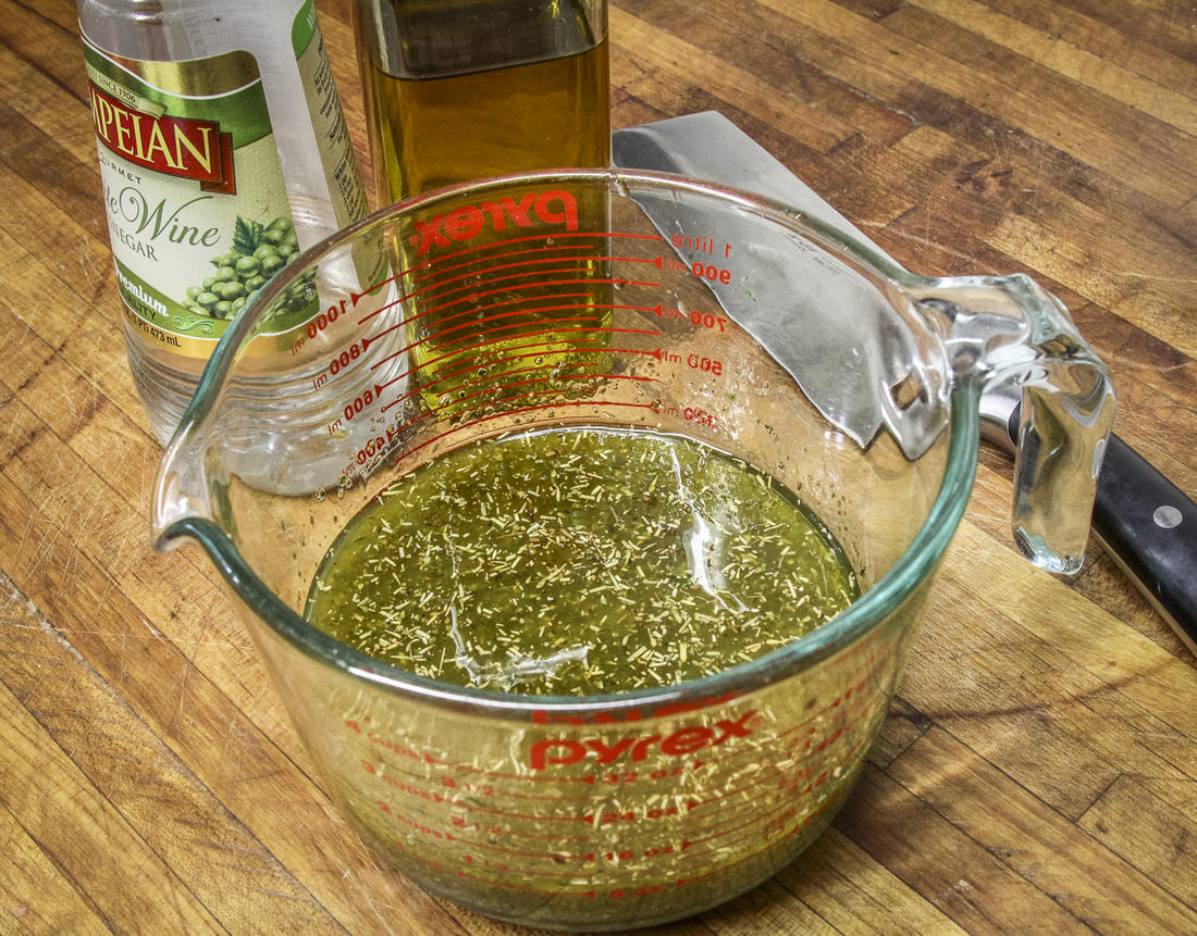 Mix the marinade ingredients well to combine thoroughly.