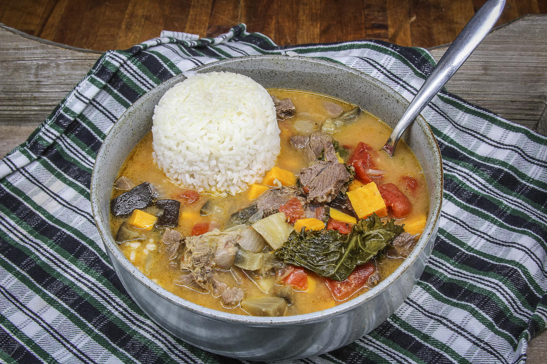 Take a stew popular in West Africa and make it with wild turkey legs and thighs, vegetables and a scoop of peanut butter.