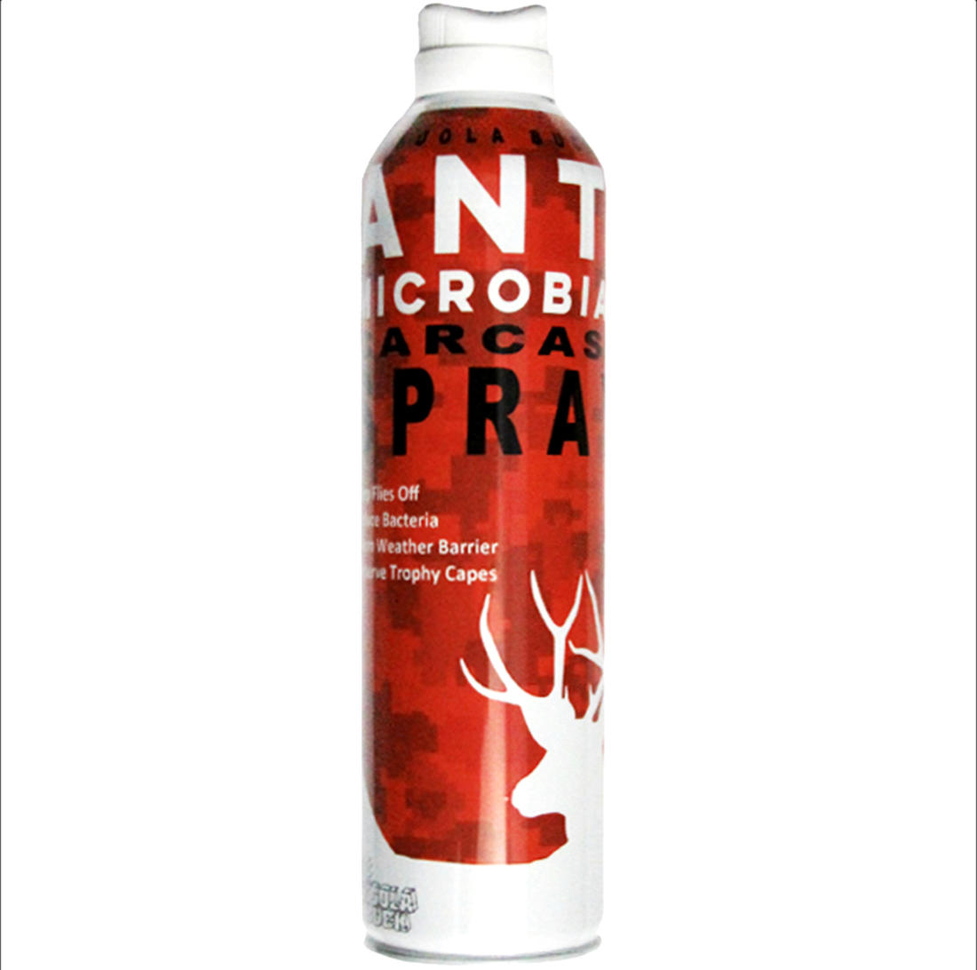 Anti-microbial sprays help to slow the growth of harmful bacteria and repel flies at the same time.