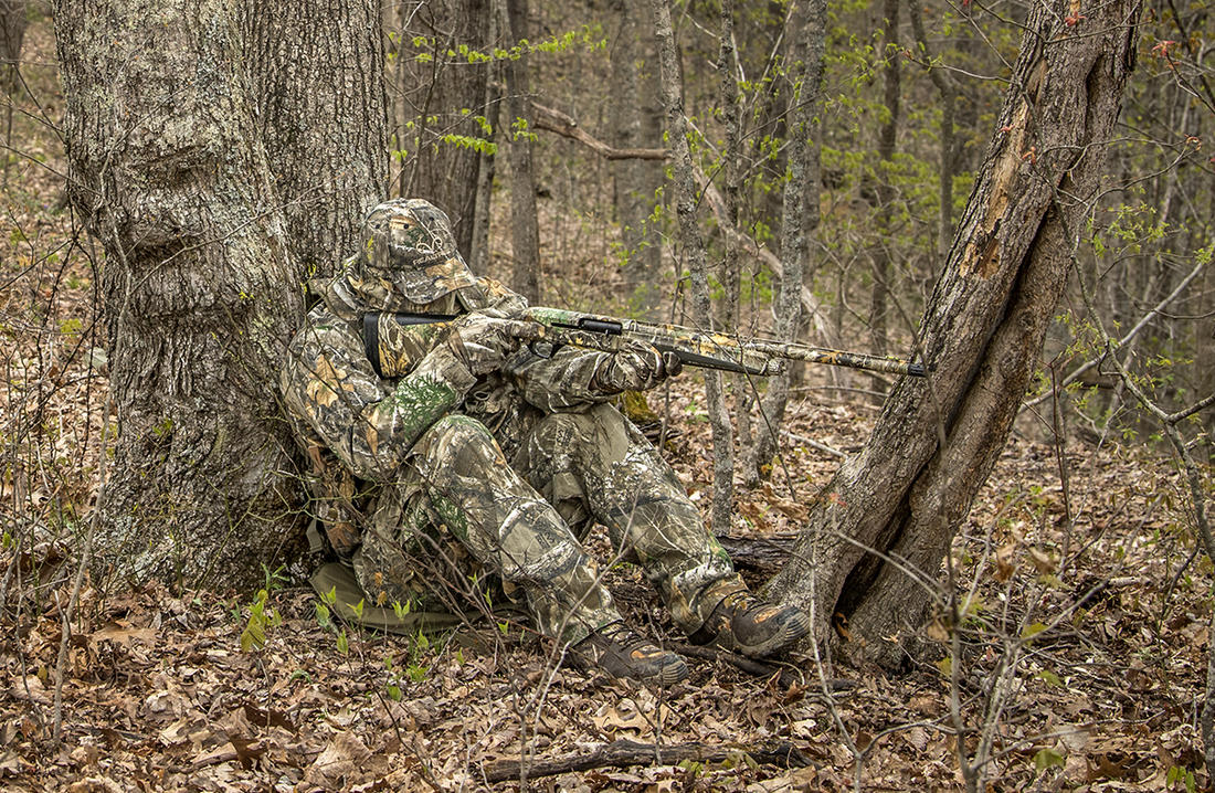 A good seat cushion or chair is vital to sitting patiently while turkey hunting. Image by Bill Konway