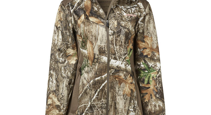 Magellan Outdoors Women's Mesa Scent Control Softshell Jacket in Realtree EDGE Camo Preview Image