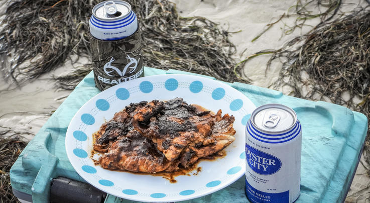 Cast-Iron Blackened Redfish on the Beach Preview Image