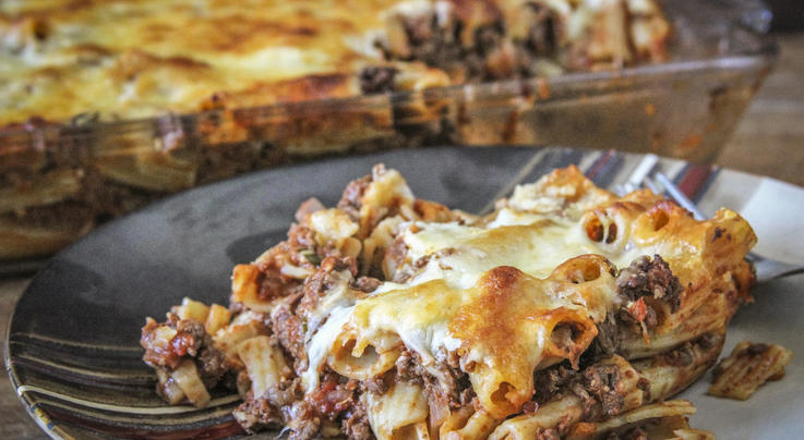 Baked Venison Rigatoni Recipe Preview Image