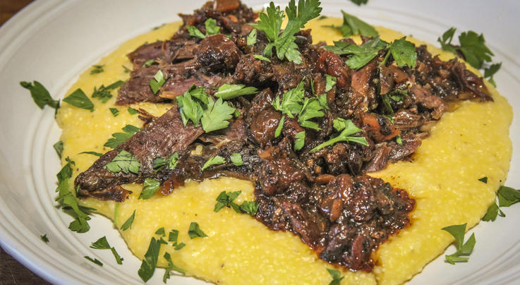 Coffee Braised Venison Shanks with Dried Cranberries Preview Image