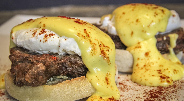Fried Deer Backstrap Eggs Benedict Recipe Preview Image