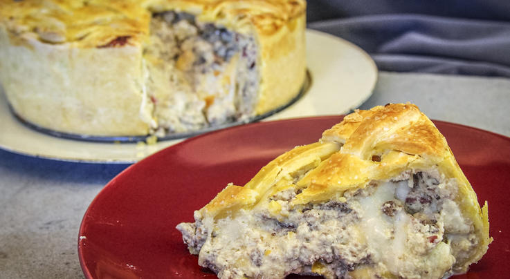 Venison Pizzagaina (Pizza Rustica) or Italian Easter Pie Recipe Preview Image