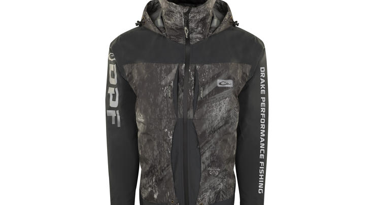 Drake Guardian Elite™ Pro Ultra-Lite 3-Layer Waterproof Jacket in Realtree Fishing Pattern Preview Image