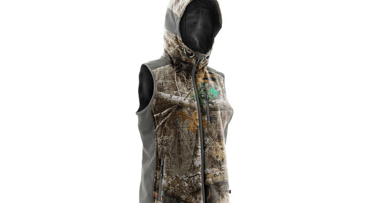 Nomad Women's Dunn Hooded Vest in Realtree EDGE Camo Preview Image