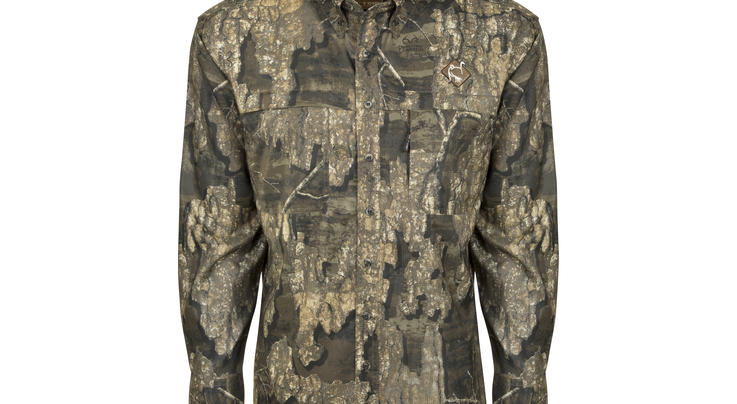 Ol' Tom Mesh Back Flyweight Shirt with Spine Pad in Realtree Timber Camo Preview Image