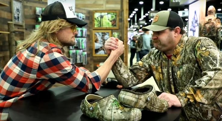 Michael Pitts and Rut Daniels Arm Wrestle for a Pair of Crocs Preview Image