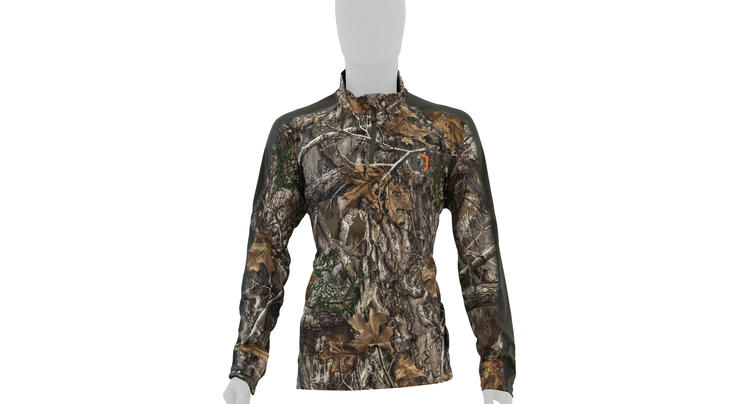 Element Outdoors Drive Series 1/4 Zip Performance Shirt in Realtree EDGE Camo Preview Image
