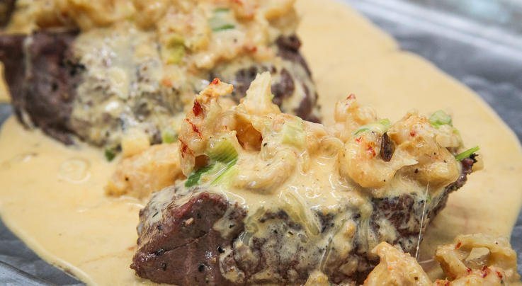 Surf-and-Turf Creamy Crawfish Over Grilled Venison Backstrap Preview Image