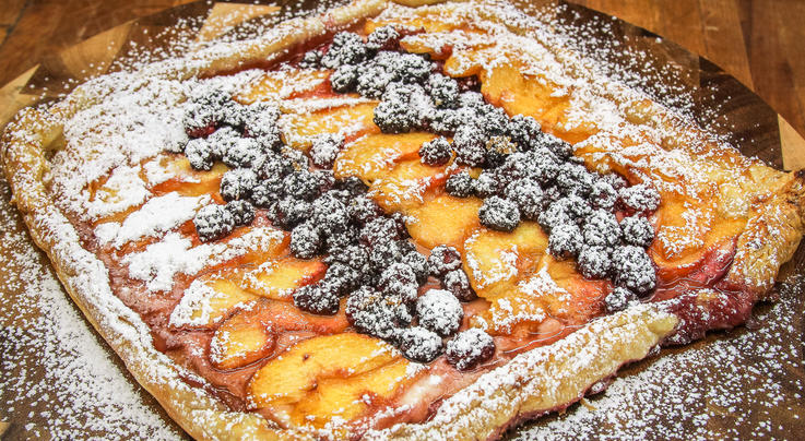 Blackberry, Peach, and Cream Cheese Grilled Tart Preview Image