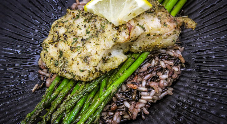 Greek-Style Grilled Flathead Catfish Steaks Preview Image