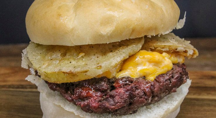 Venison Burgers with Pimento Cheese and Fried Green Tomato Preview Image
