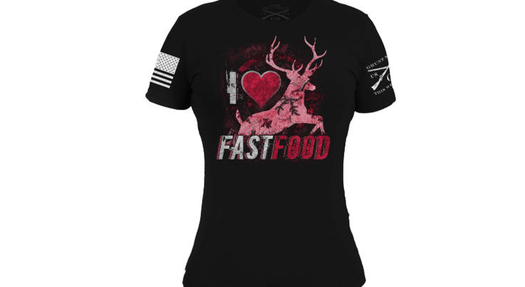 The Realtree Xtra Paradise Pink Fast Food Women's Tee Preview Image
