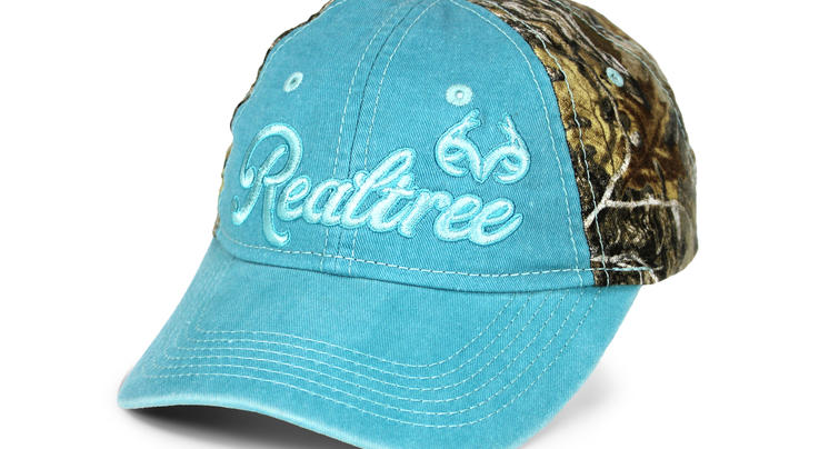 Paramount Outdoors Women's Realtree Camo Caribbean Blue Cap Preview Image