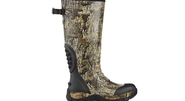 Magellan Outdoors Men's Swamp King Hunting Boots in Realtree Timber Camo Preview Image