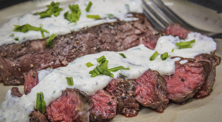 Elk Backstrap Sous Vide with Creamy Horseradish Sauce Preview Image