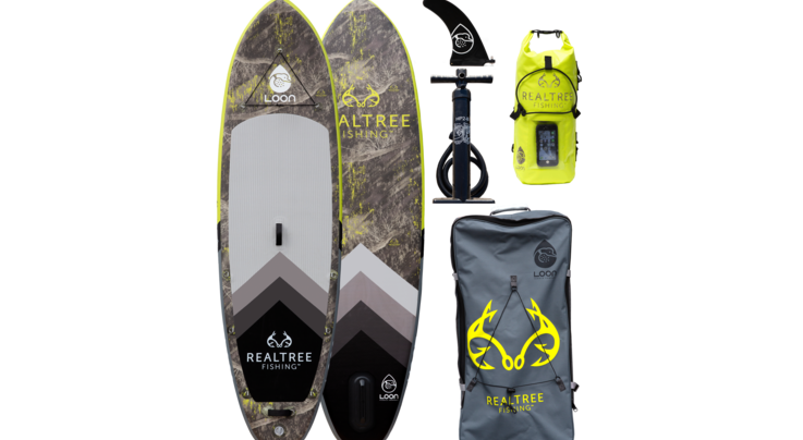 """Loon Paddle Company Realtree™ Fishing Hi-Viz Feather Light 10'8"""" Inflatable Paddle Board Preview Image"""