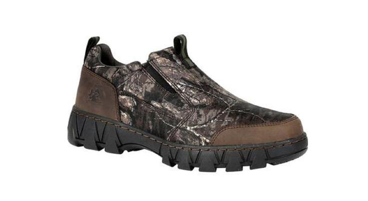 Rocky Boots Oak Creek Camo Slip-On Shoe in Realtree Timber Camo Preview Image