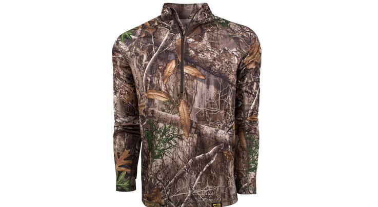Kings Camo XKG Elevation 1/4 Zip Tee in Realtree EDGE Camo Preview Image
