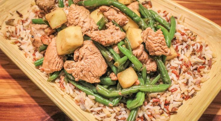 Wild Turkey, Green Bean, Apple and Pecan Stir Fry Recipe Preview Image