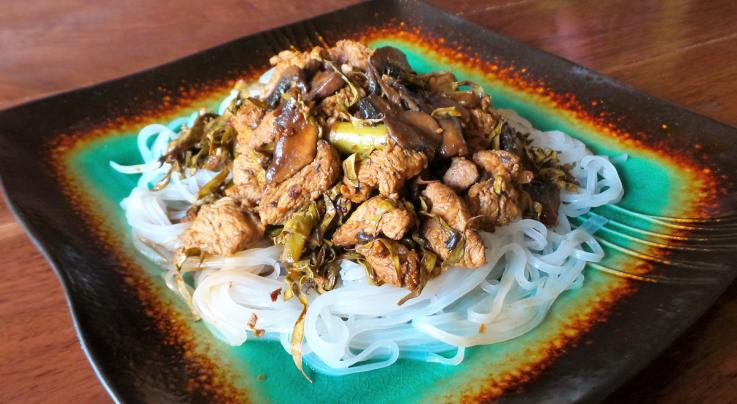 Wild Turkey Stir Fry with Redbud Seed Pods and Wild Asparagus  Preview Image