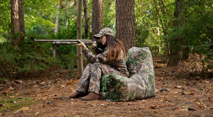 Juniper Outdoor Bean-Bag Chair in Realtree Xtra Green Camo Preview Image