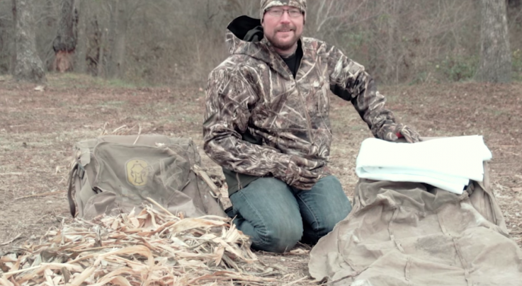 The X: How to Brush in a Layout Duck Blind in Snow Preview Image