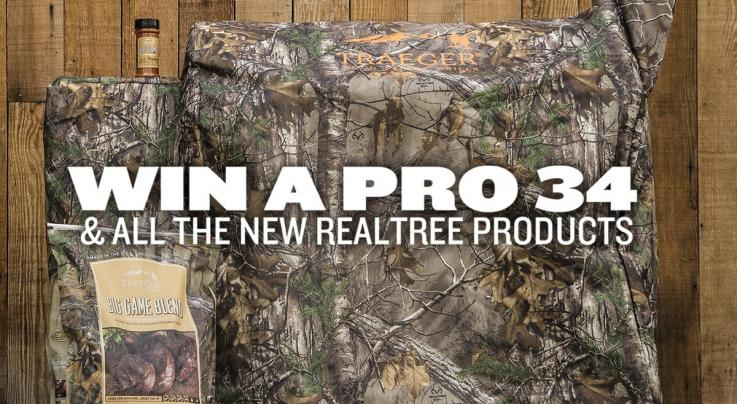 Realtree and Traeger Team Up in Traeger Pellet Grill Giveaway Preview Image