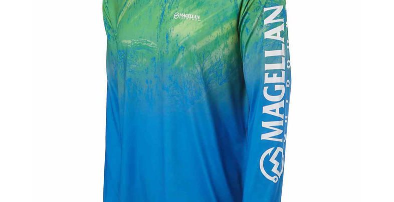 4c8a2aaa7c0ae Magellan Outdoors Men's Realtree Fish Ombre Long Sleeve T-shirt
