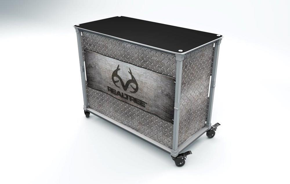 Pop-A-Bar Realtree Tailgate Island (Treadplate)
