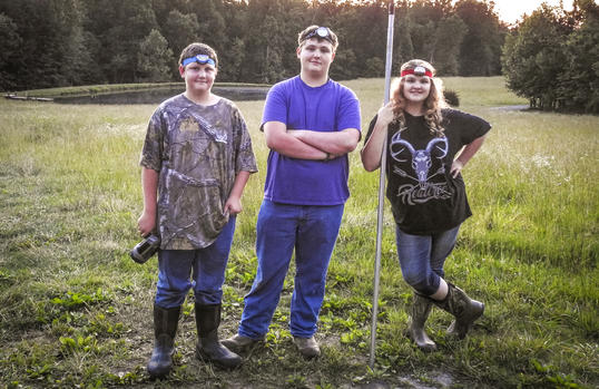 Frog gigging is the perfect family sport.