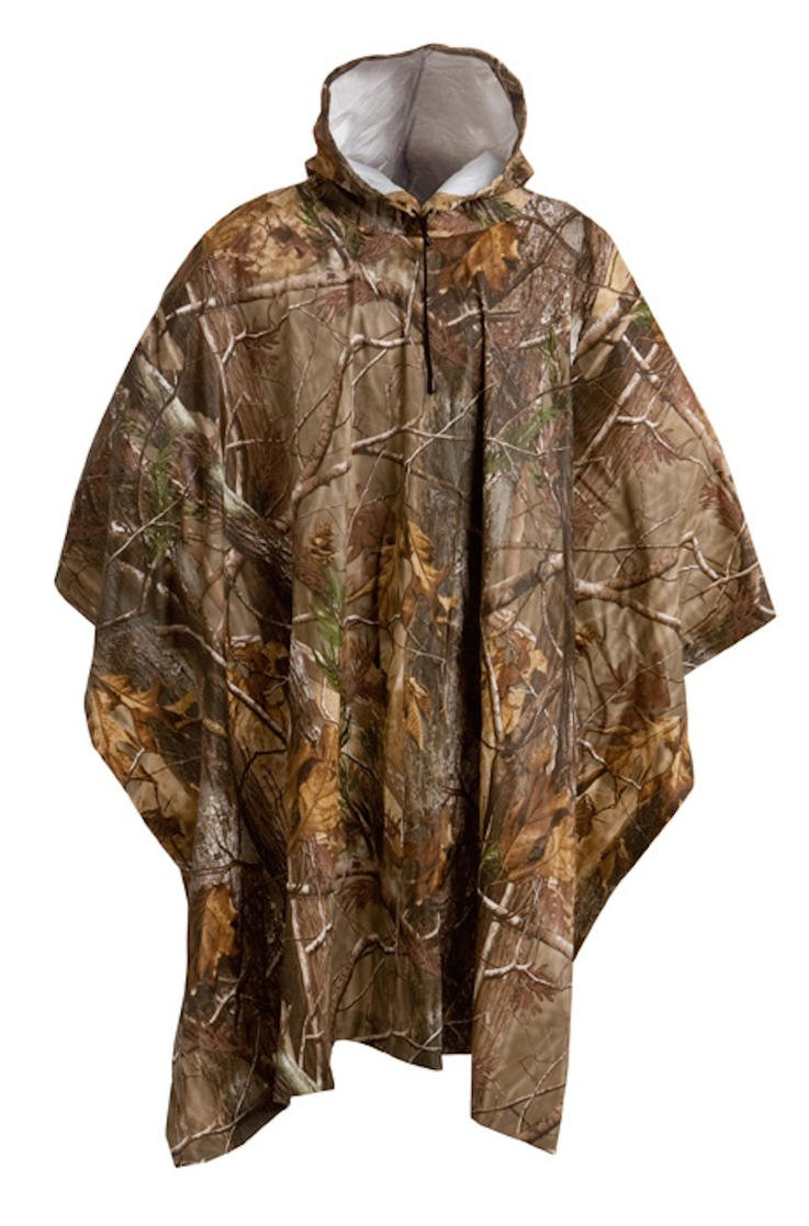 Camouflage Rain Poncho in Realtree AP