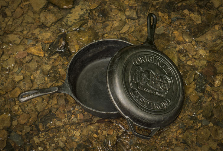 The deep chicken fryer can be used as a backup skillet, or filled with oil for deep frying. Photo B. Konway