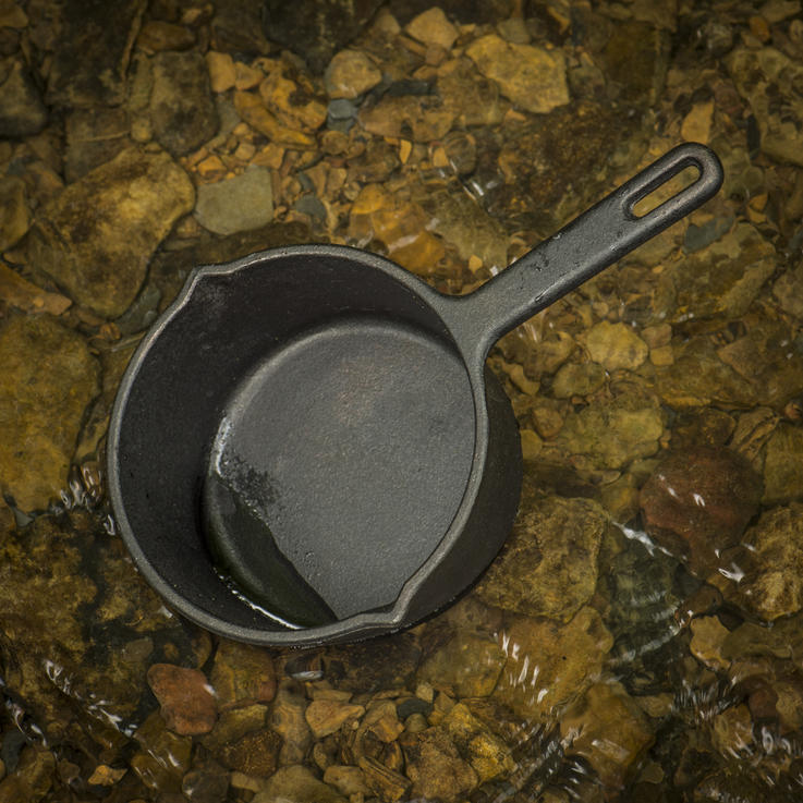 A small sauce pan is perfect for heating your sauce or glaze on the grill. Photo B. Konway