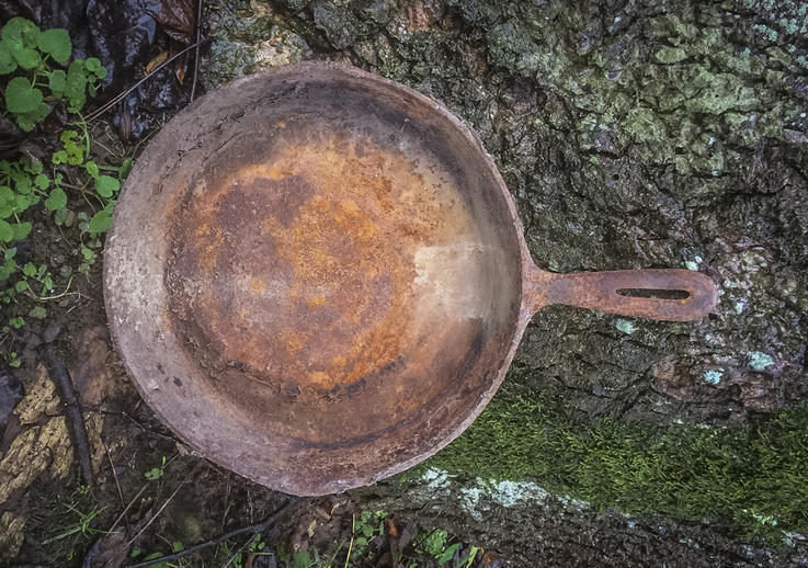 Keep your skillets clean and dry to prevent rust.