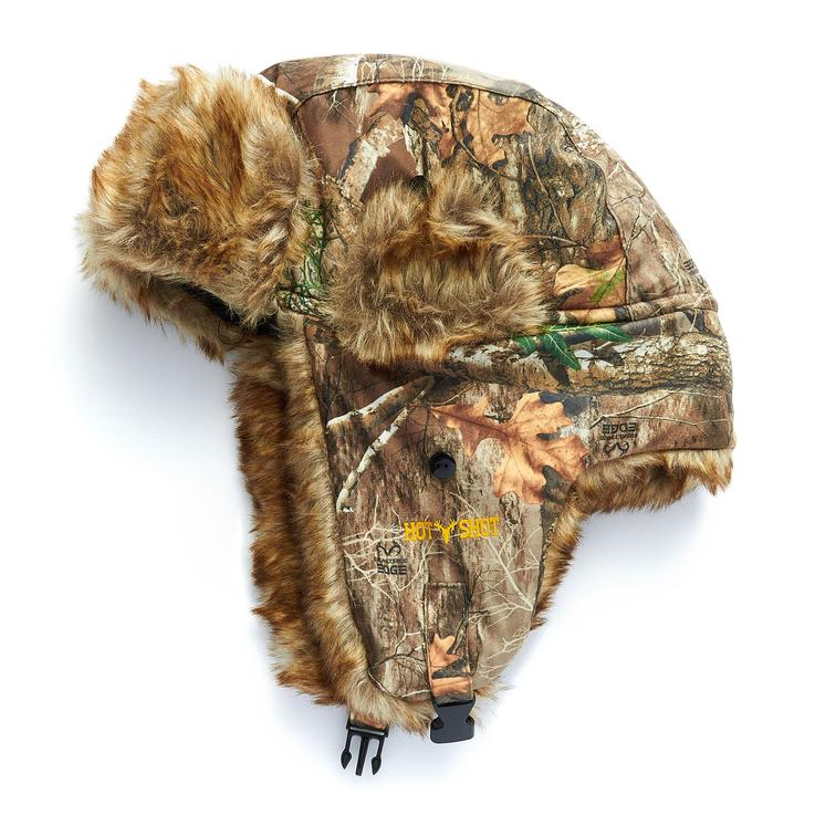 """Hot Shot """"Sabre"""" Brushed Tricot Trapper in Realtree EDGE Camo"""
