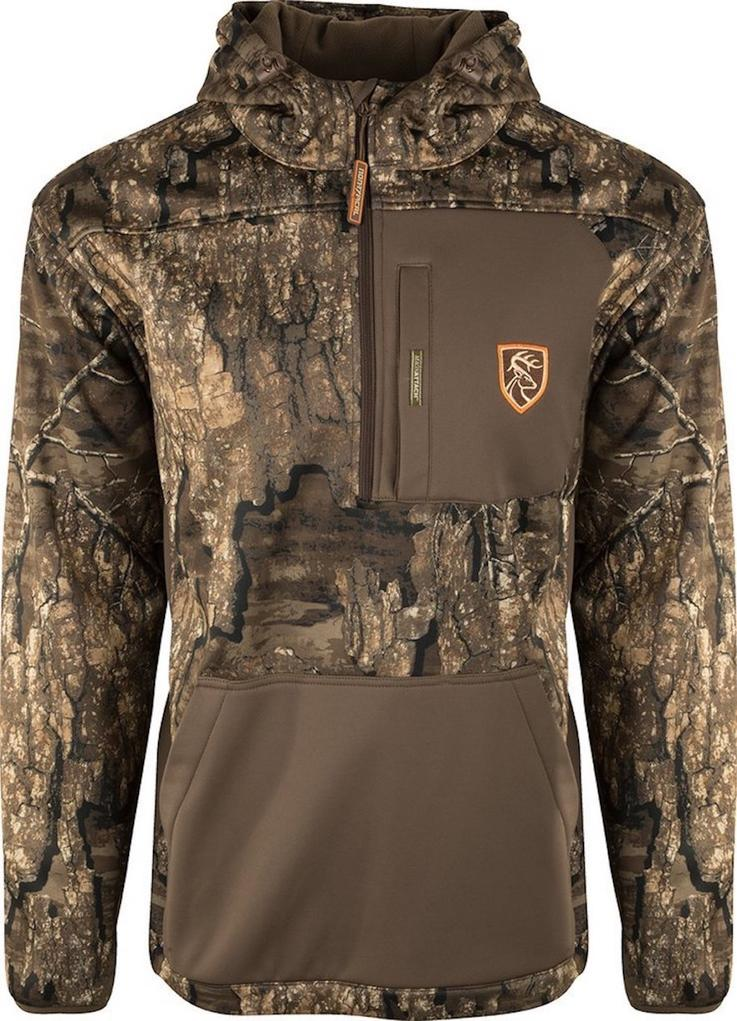 The Drake Non-Typical 1/4 Zip pullover is perfect for the season's first frosty morning. Image by Drake Waterfowl