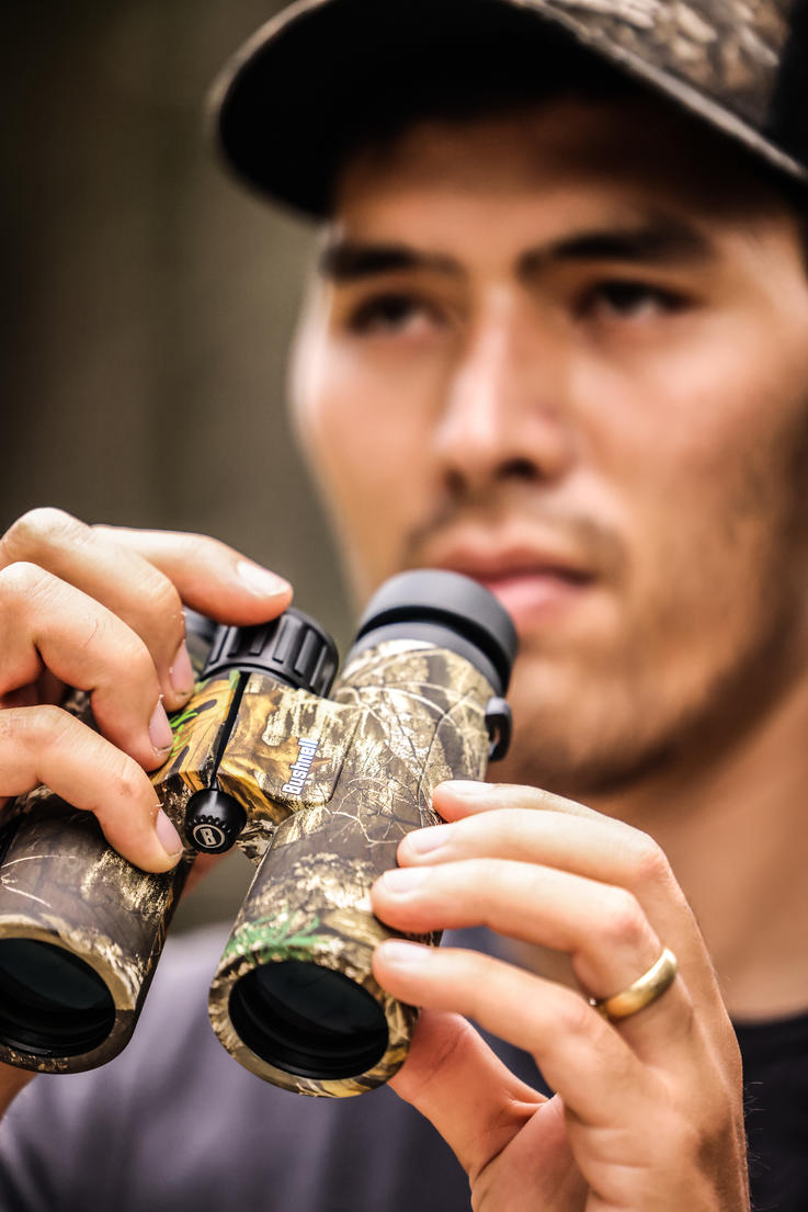 You'll be pressed to find better binos for the money than the Bushnell Engage 10x42. Image by Realtree / Matt Harrison