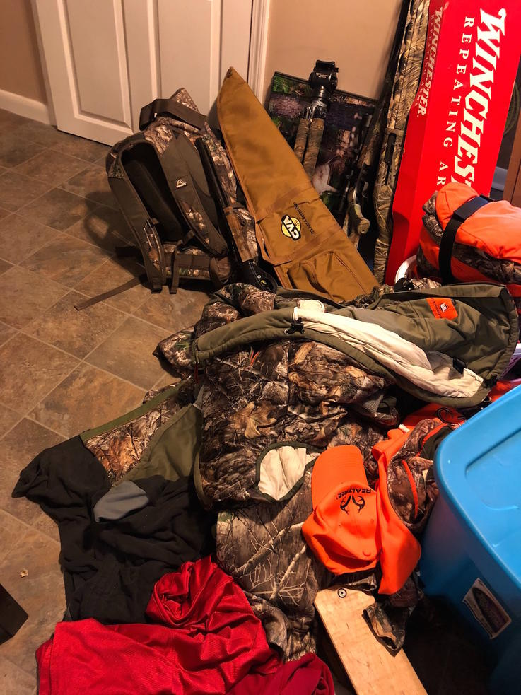 You Leave Hunting Gear All Over the Place