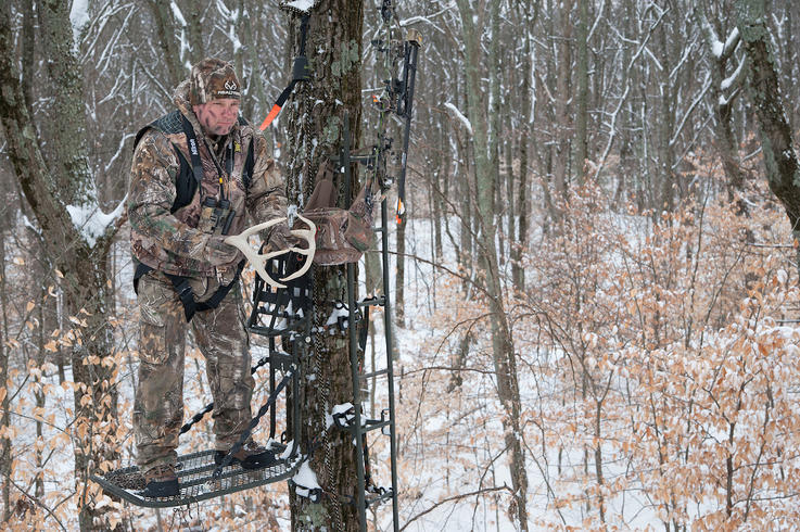 Use a Safety Harness and Safety Line When Hunting from Elevated Positions