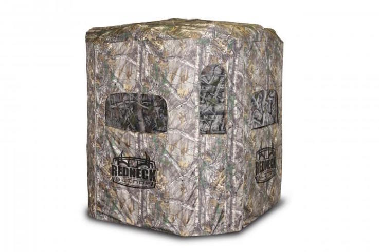 redneck soft side 6x6 camo 360 blind in realtree xtra
