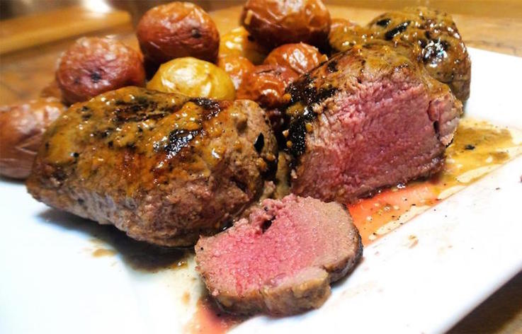 Steakhouse-Style Pan-Seared Backstrap with Easy Garlic Butter Pan Sauce