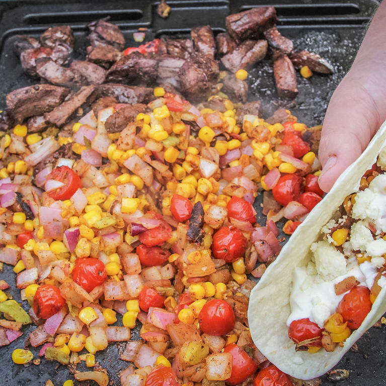 Deer Heart Tacos with Pickled Onion and Sweet Corn Salsa Recipe